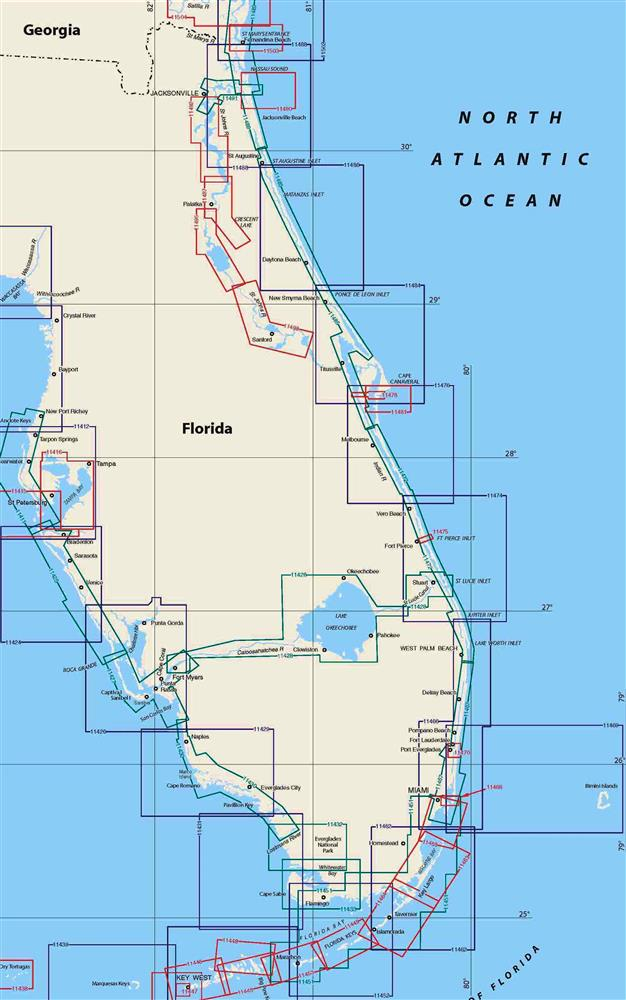 TheMapStore Florida East Coast Nautical Charts - Florida east coast map