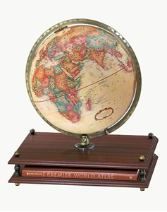 "Picture of Premier 12"" World Globe with World Atlas"