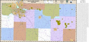 Picture of Eau Claire County Wisconsin Wall Map