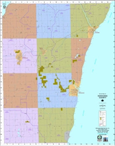 Picture of Kewaunee County Wisconsin Wall Map