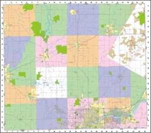Picture of Outagamie County Wall Map