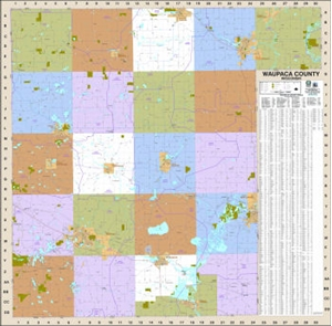 Picture of Waupaca County Wisconsin Wall Map