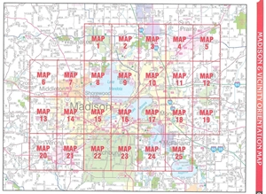 TheMapStore Madison Dane County and Southern Wisconsin Street Atlas