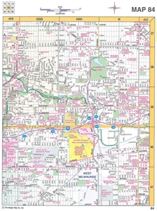 Picture of Warren 8 County Milwaukee & Southeastern Wisconsin Street Atlas