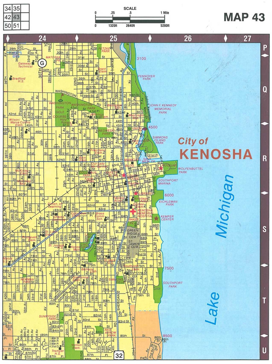TheMapStore  Racine And Kenosha Counties Street Atlas