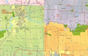 Picture of Jefferson County Wisconsin Street Map
