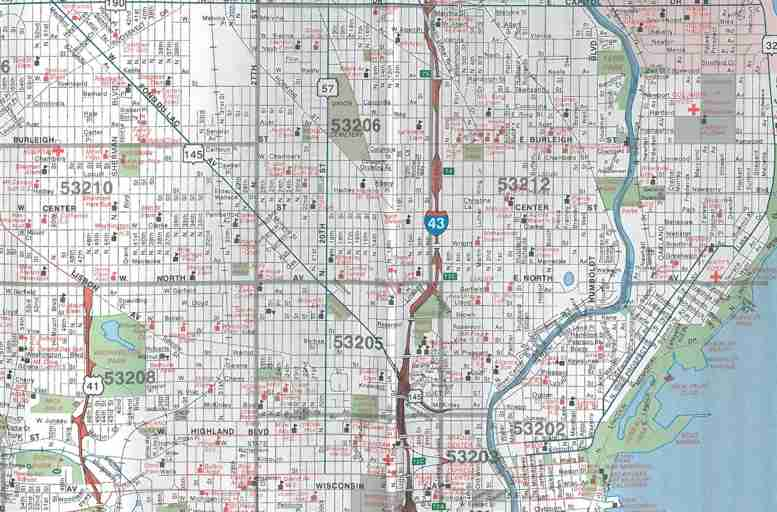 themapstore milwaukee metro wisconsin street map