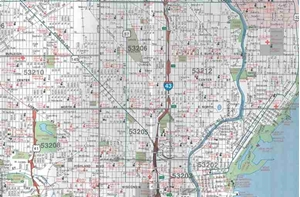 TheMapStore | Milwaukee Metro Wisconsin Street Map