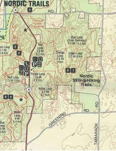 Picture of Kettle Moraine State Forest Northern & Southern Units Recreation Map