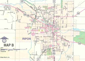 Picture of Fond du Lac Wisconsin Street Map