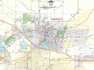 Marion Wisconsin Map.Themapstore Waupaca Waupaca County Clintonville Fremont Iola