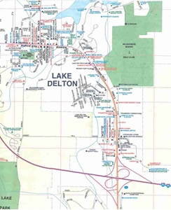 Themapstore Lake Delton Wisconsin Dells South Central Wisconsin