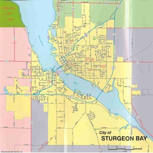 Picture of Door County Wisconsin Quick Reference Map