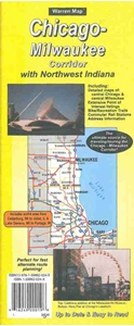 Chicago-Milwaukee I-94 Corridor Folded Road Map