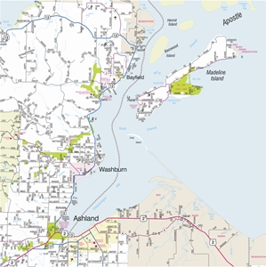 Picture of Northwestern Wisconsin Highway Wall Map