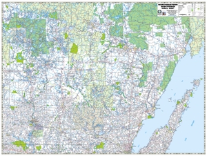 TheMapStore Northeastern Wisconsin Highway Wall Map - Wi road map