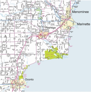 Picture of Northeastern Wisconsin Highway Wall Map