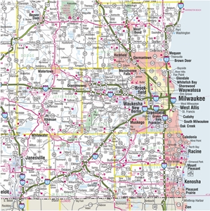 themapstore wisconsin state highway wall map