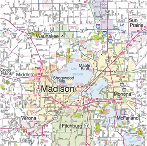 Picture of South Central Wisconsin Highway Wall Map