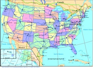 Picture for category  USA STATES & CITY MAPS