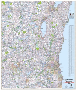Picture of Southeastern Wisconsin Sectional 5 Digit Zip Code Wall Map