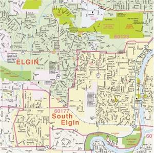 Themapstore Kane County Illinois Wall Map