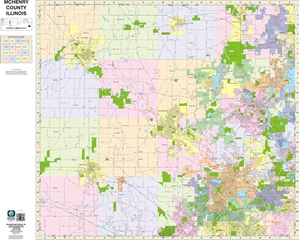 Picture of McHenry County Illinois Wall Map