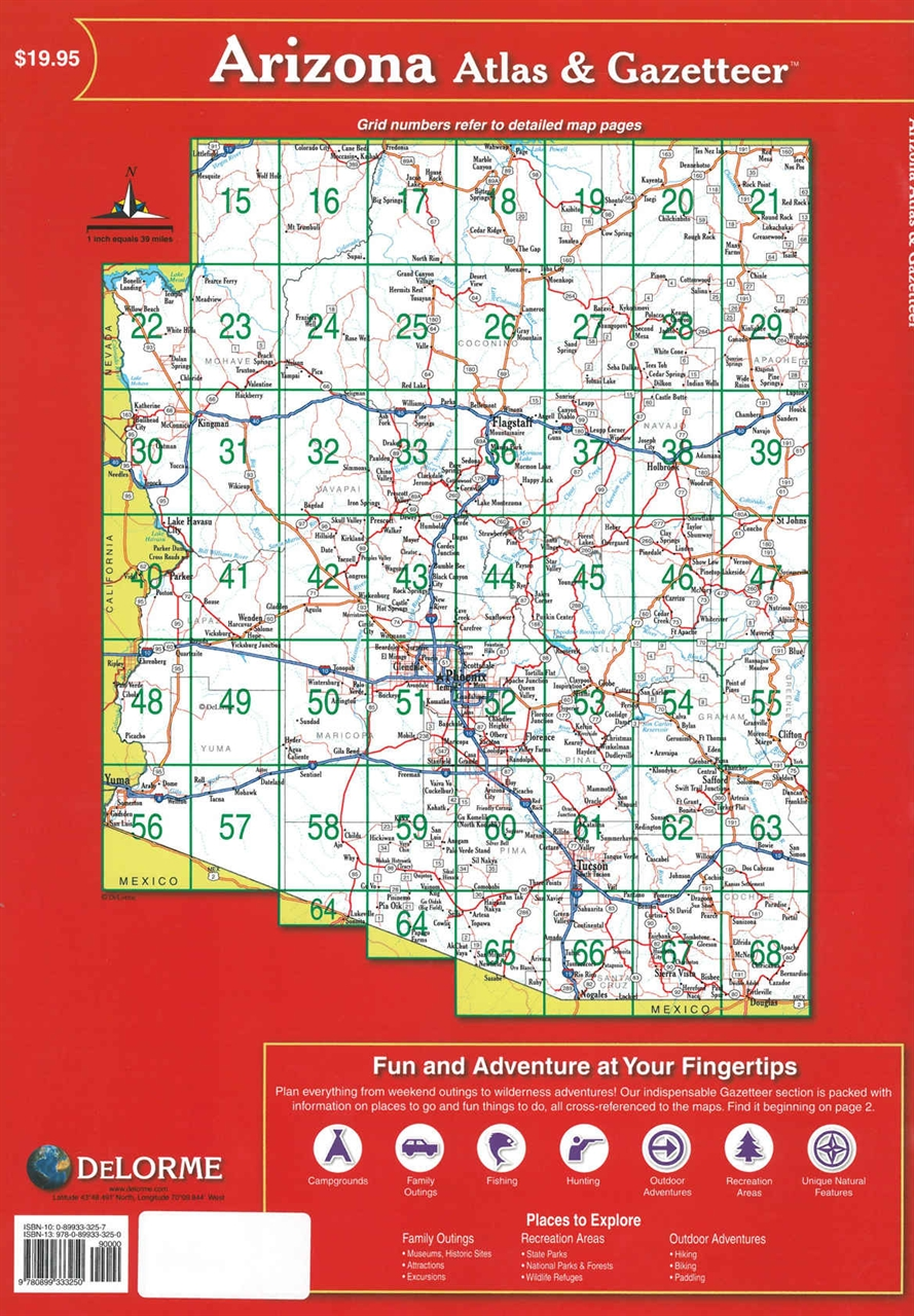 TheMapStore | Arizona State Atlas & Gazetteer