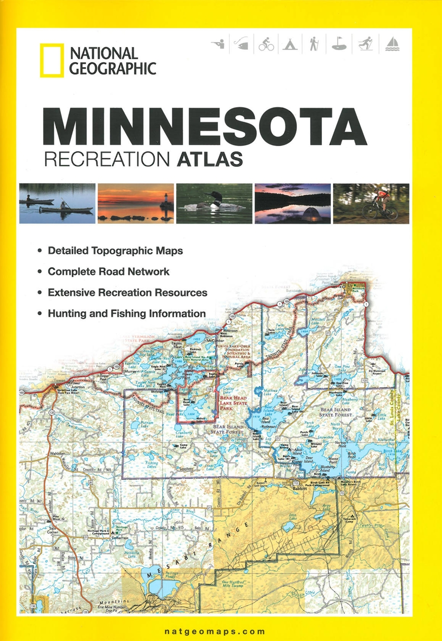 Themapstore national geographic minnesota state for Colorado fishing atlas