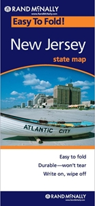 Picture of New Jersey Easy to Fold State Map