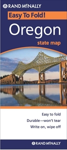 Picture of Oregon Easy to Fold State Map