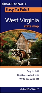 Picture of West Virginia Easy to Fold State Map