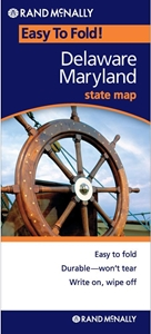 Picture of Delaware & Maryland Easy to Fold State Map