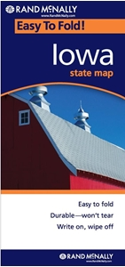 Picture of Iowa Easy to Fold State Map