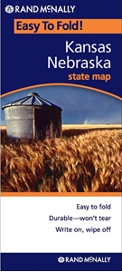 Picture of Kansas & Nebraska Easy to Fold State Map
