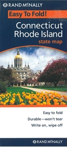 Picture of Connecticut and Rhode Island Easy to Fold State Map