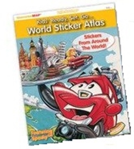 Picture of Kids' Ready, Set, Go...World Sticker Atlas