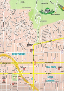 Picture of Hollywood Detailed Street Map