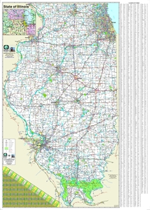 Picture for category ILLINOIS WALL MAPS