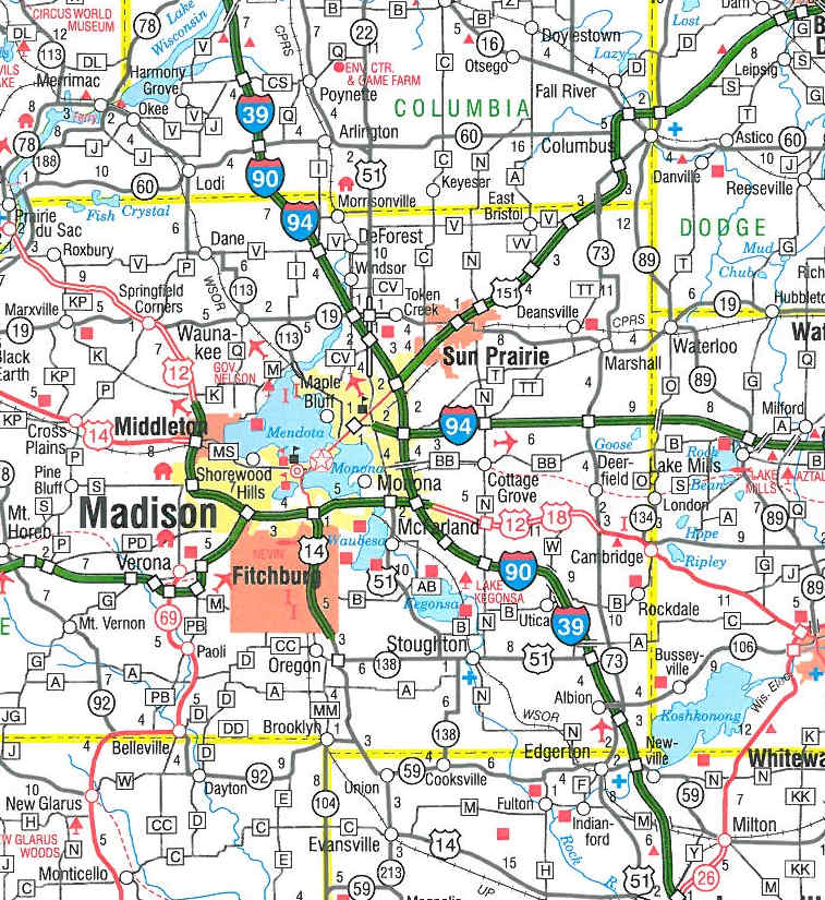 Southeast Wisconsin Road Map Pictures To Pin On Pinterest