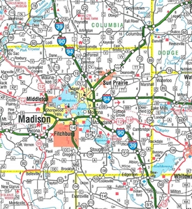 TheMapStore Wisconsin State Highway Map - Wi road map