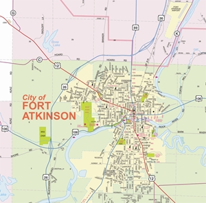 Picture of Jefferson County Wisconsin Street Wall Map