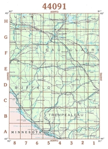 Picture of 44091 - Wisconsin Topographic Maps