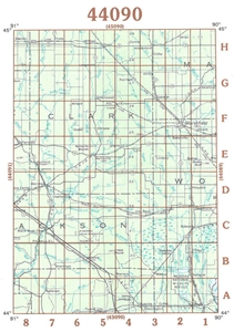Picture of 44090 - Wisconsin Topographic Maps