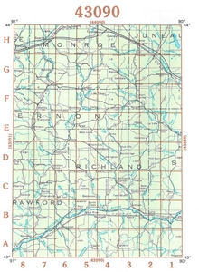 Picture of 43090 - Wisconsin Topographic Maps