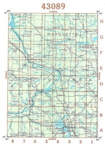 Picture of 43089 - Wisconsin Topographic Maps