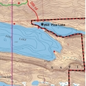 Picture of Boundary Waters Canoe Area Wilderness (BWCAW) and Quetico Provincial Park Maps Map 1 - Pine, Greenwood and Mountain Lakes
