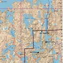 Picture of Boundary Waters Canoe Area Wilderness (BWCAW) and Quetico Provincial Park Maps Map 6A - Saganaga, Saganagons