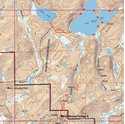 Picture of Boundary Waters Canoe Area Wilderness (BWCAW) and Quetico Provincial Park Maps Map 12 - Moose River and Stuart Lake
