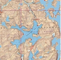 Picture of Boundary Waters Canoe Area Wilderness (BWCAW) and Quetico Provincial Park Maps Map 13 - Lac La Croix Lake